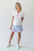Quinn Golf Skort in Sail Away Blue
