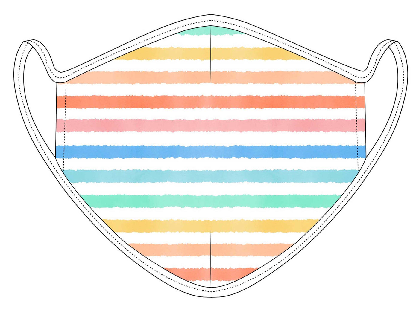 Rainbow Stripe COVID-19 Face Mask