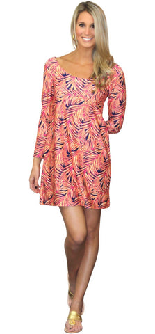 Twiggy Swing Dress in Palm Party