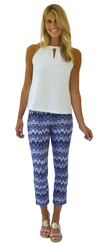 Rowan Ankle Pant in Getting Ziggy Navy (Final Sale)
