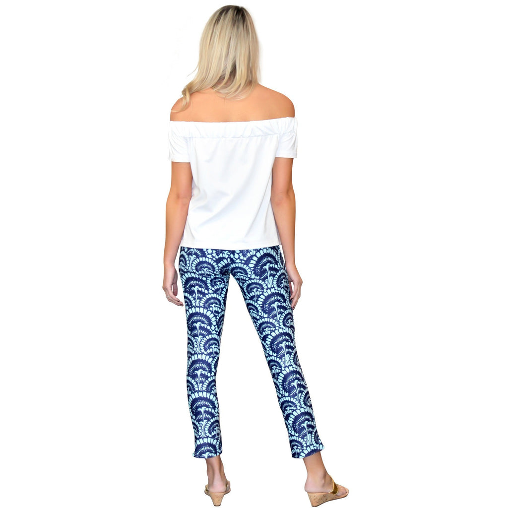 Kaeli Smith Rowan Ankle Pant in Flower Fantasy Blue (XS-XL)
