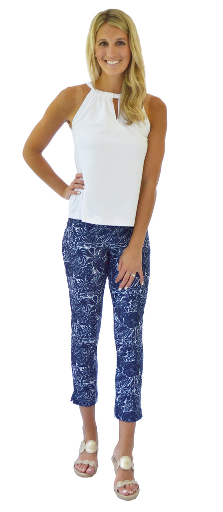 Rowan Ankle Pant in Spellbound Navy