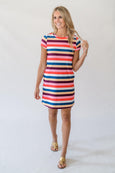 Sierra Shift Dress in Jackie Stripe