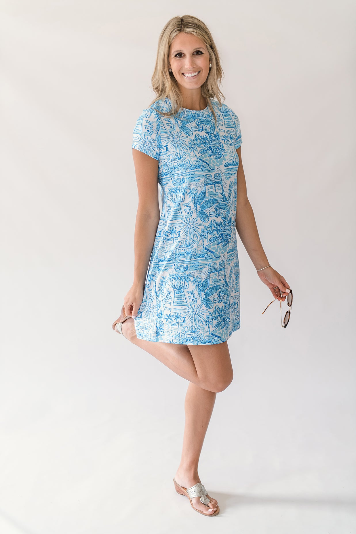 Sierra Shift Dress in Poolside