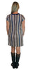 Sierra Shift Dress in Yuppie Stripe Ponte