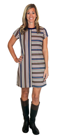 Natalie Dress in Boho Love Stripe (Final Sale)