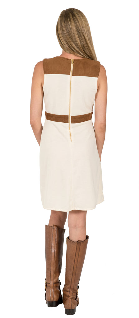 Sophie Dress in Cream Ponte