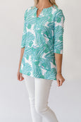 Teegan Tunic Top in Coconut Trees