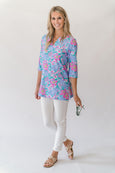 Teegan Tunic Top in Jungle Punch