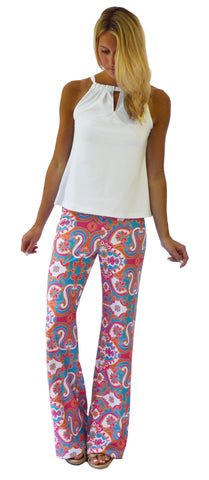 Tucker Wide Leg Palazzo Pants in Petals To The Sun (Final Sale)