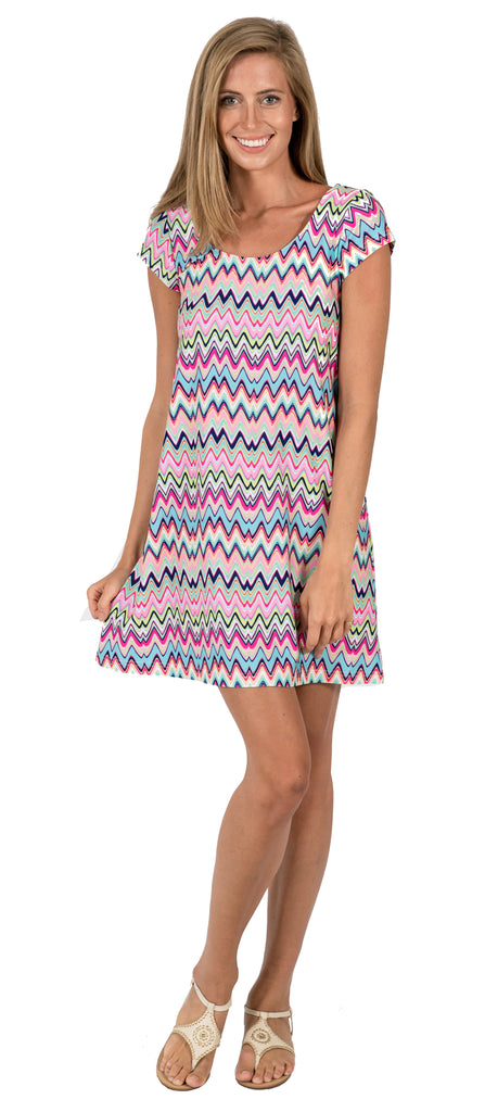 Twiggy Swing Dress in Getting Ziggy With It Multi (Final Sale)