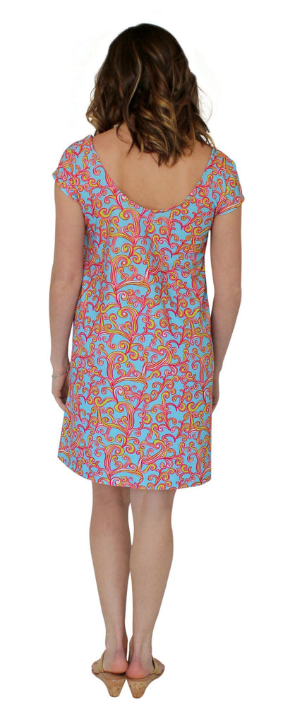 Kaeli Smith Twiggy Swing Dress in Sea Swirls XS-XL