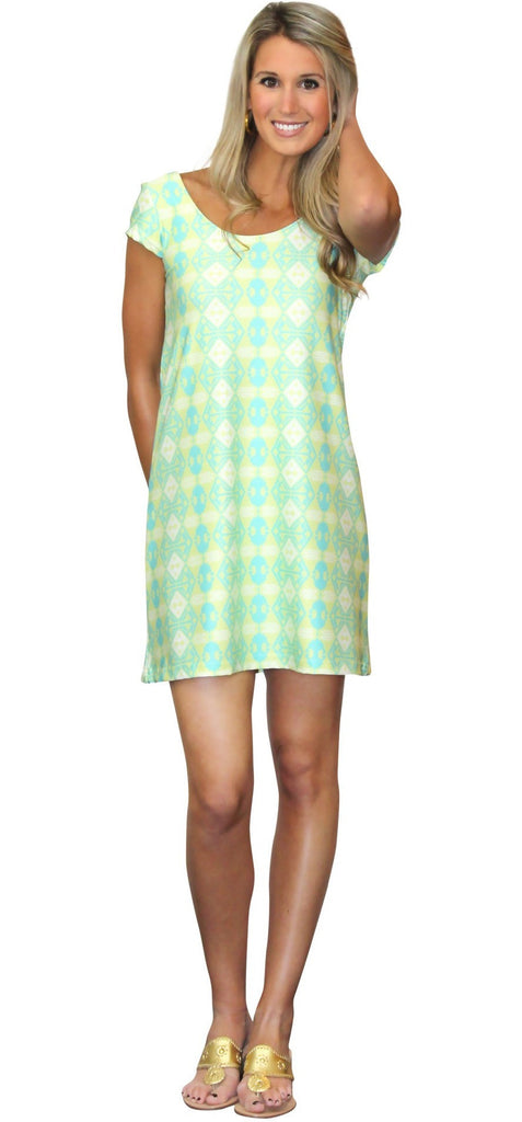 Kaeli Smith Twiggy Swing Dress in Somewhere Exotic (XS-XL)