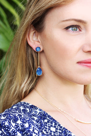 Azure Drop Earrings | 2-in-1