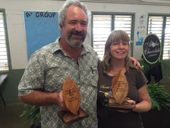 Derek Lanter, Melanie Boudar winners Farm Lovers Chocolate competition