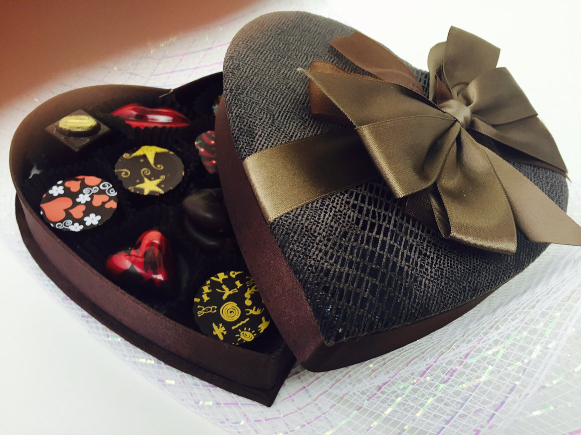 12 Pc Anniversary or Valentines Heart box