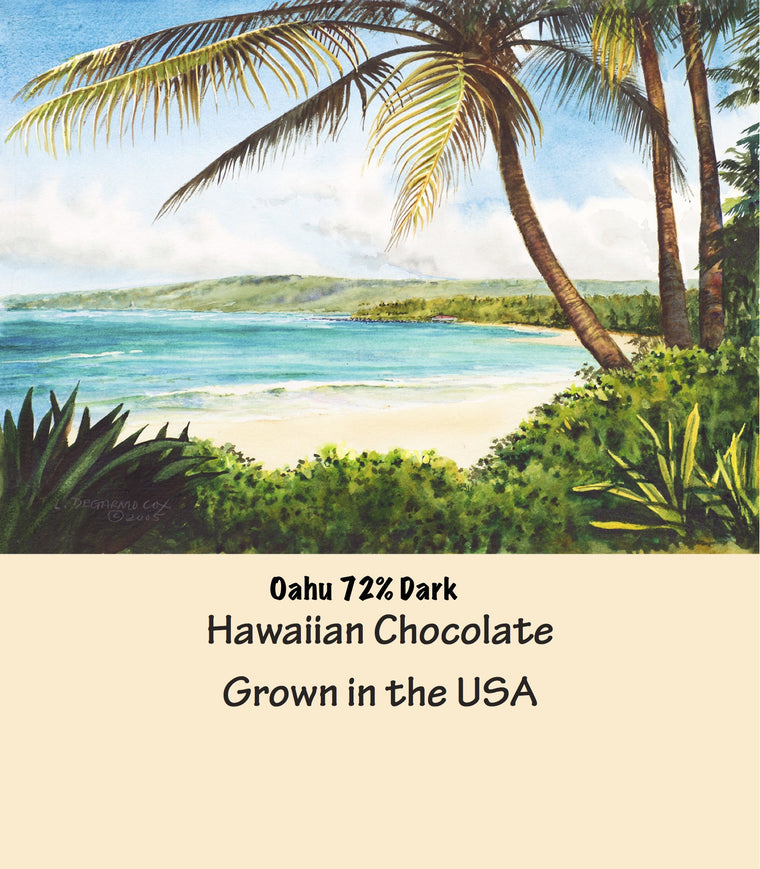 Cacao Santa Fe Oahu Hawaiian 72% Dark Chocolate