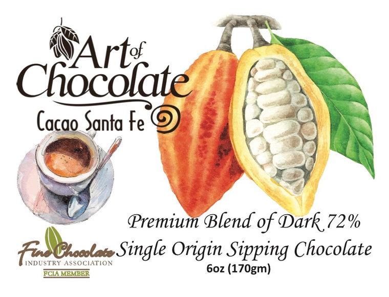 Hot Chocolate 72% Premium Sipping Chocolate
