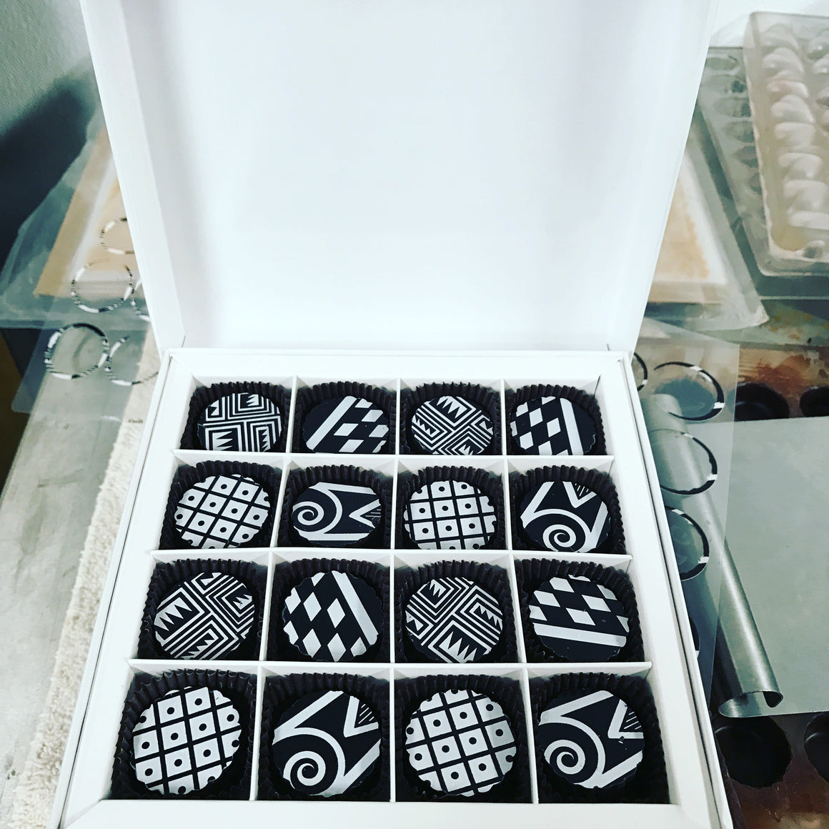 Chaco Pottery Shard Collection 16 Pc truffles
