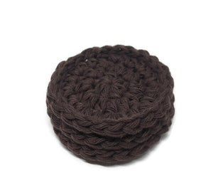 Cotton Face Scrubbie – Black Coffee