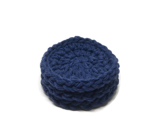 Cotton Face Scrubbie – Light Navy