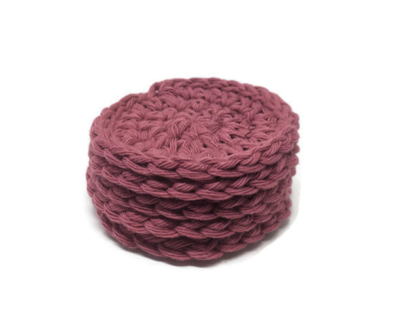 Cotton Face Scrubbie – Rosewine