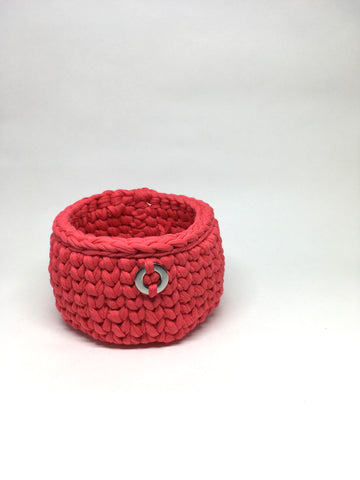 Crochet Basket, Candy Pink Set