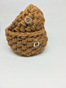 Crochet Basket, Caramel Set