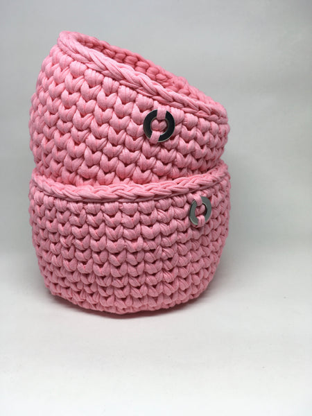 Crochet Basket, Marshmallow Set