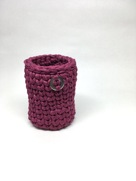 Crochet Basket, Purple Magic – 7x10cm