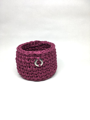 Crochet Basket, Purple Magic Set