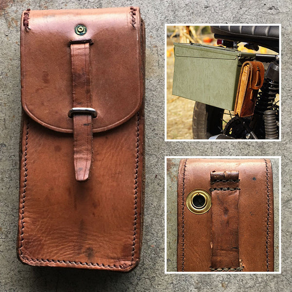 Vintage Leather Ammo Pouch