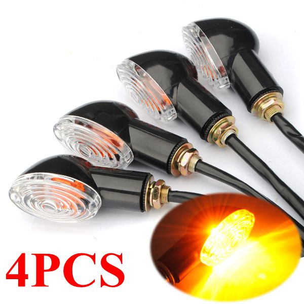 4PCS Universal Motorcycle Turn Signal Indicator Mini for Cat Eye For Honda Suzuki for Ducati