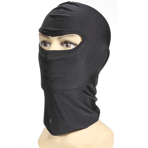 Black Motorcycle Bikes Sports Helmet Balaclava Scarf Snood Neck Warmer Face Mask