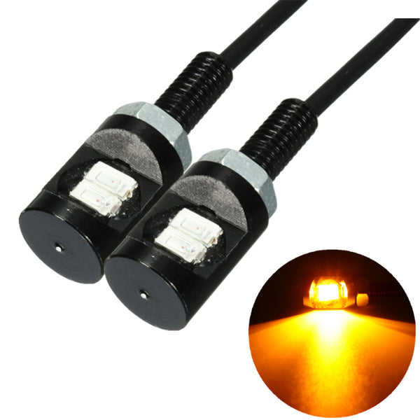 2PCS Motorcycle Number License Plate Lights 12V LED 5630 SMD Auto Tail Front Screw Bolt Bulbs