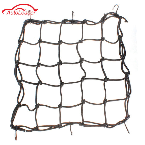 6 Hooks Black Motorcycle Motorbike Bike Cargo Luggage Bungee Cord Net 40x40cm