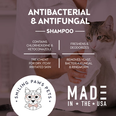 Antibacterial & Antifungal Shampoo For Dogs & Cats