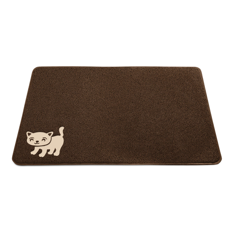 cat litter mat brown