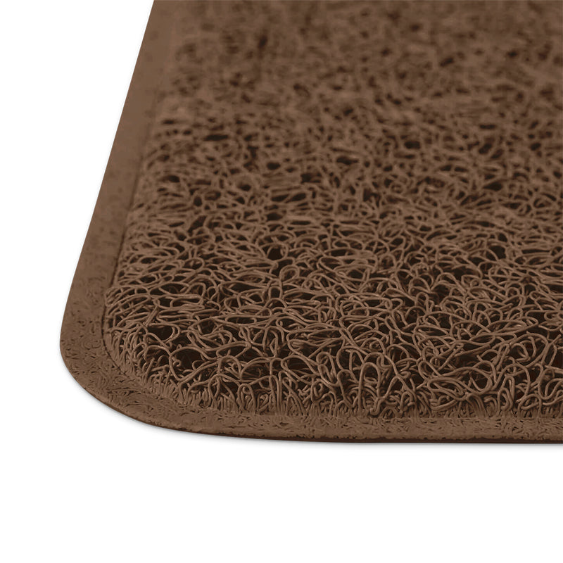 Cat Litter Mat Extra Large With Scatter Control In Brown