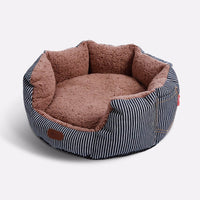 round pet bed for dog and cat