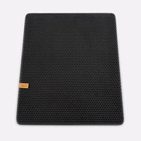 Large Double Layer Cat Litter Trapper Mat In Black