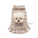 Maltese Portrait Pin Dog Sweater
