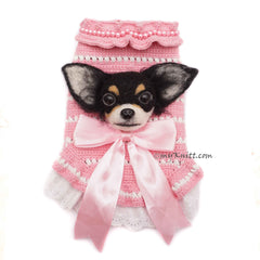 Chihuahua Portrait Dog Selfie Clothes, Long Hair Chihuahua Selfie Sweater by Myknitt