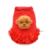 Poodle Portrait Photo in Dress Crochet by Myknitt