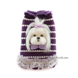 Maltese Portrait Dog Sweater Custom by Myknitt