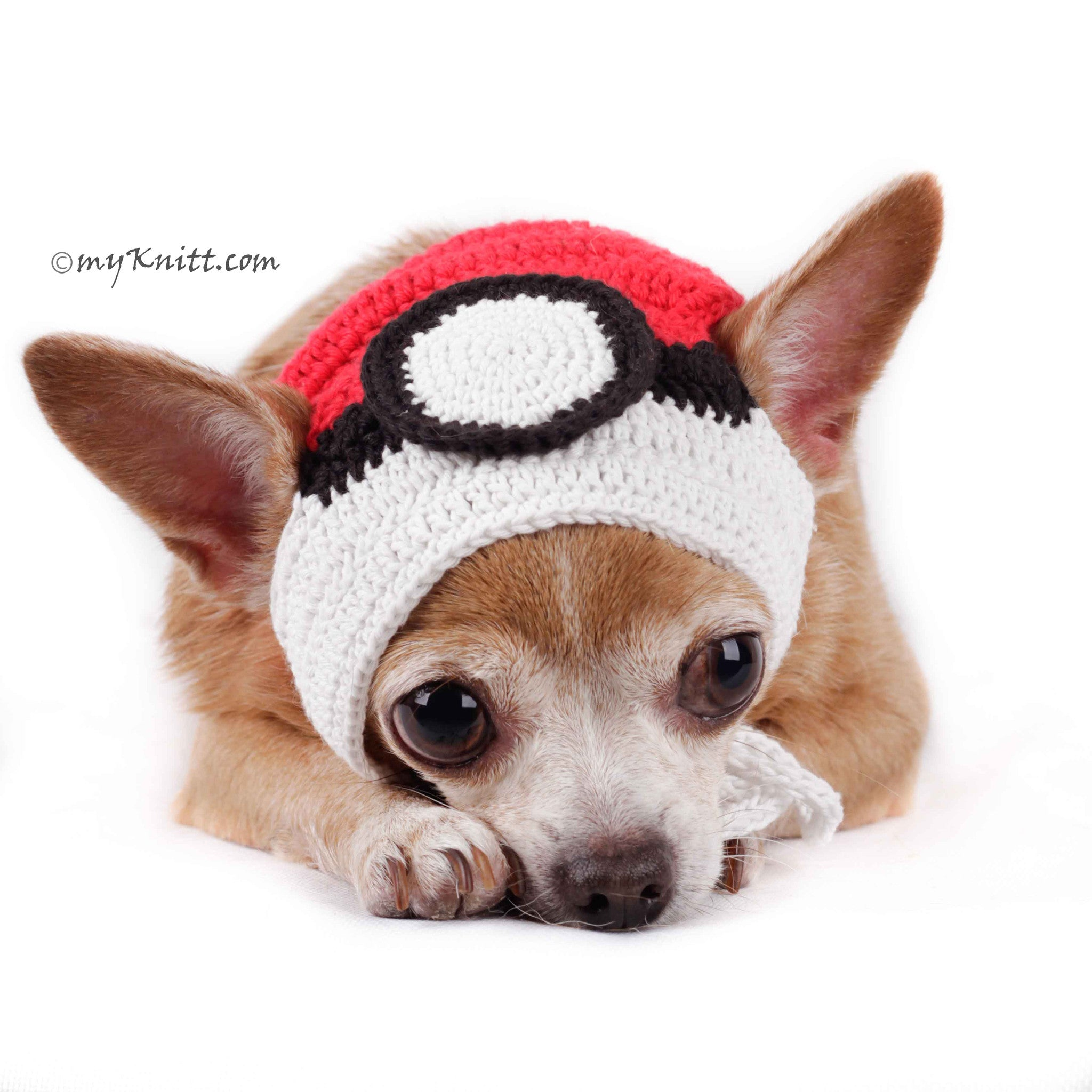 edc063a7f2982 Pokemon Ball Dog Hat Halloween Cute Pet Accessories DB1 by Myknitt ...