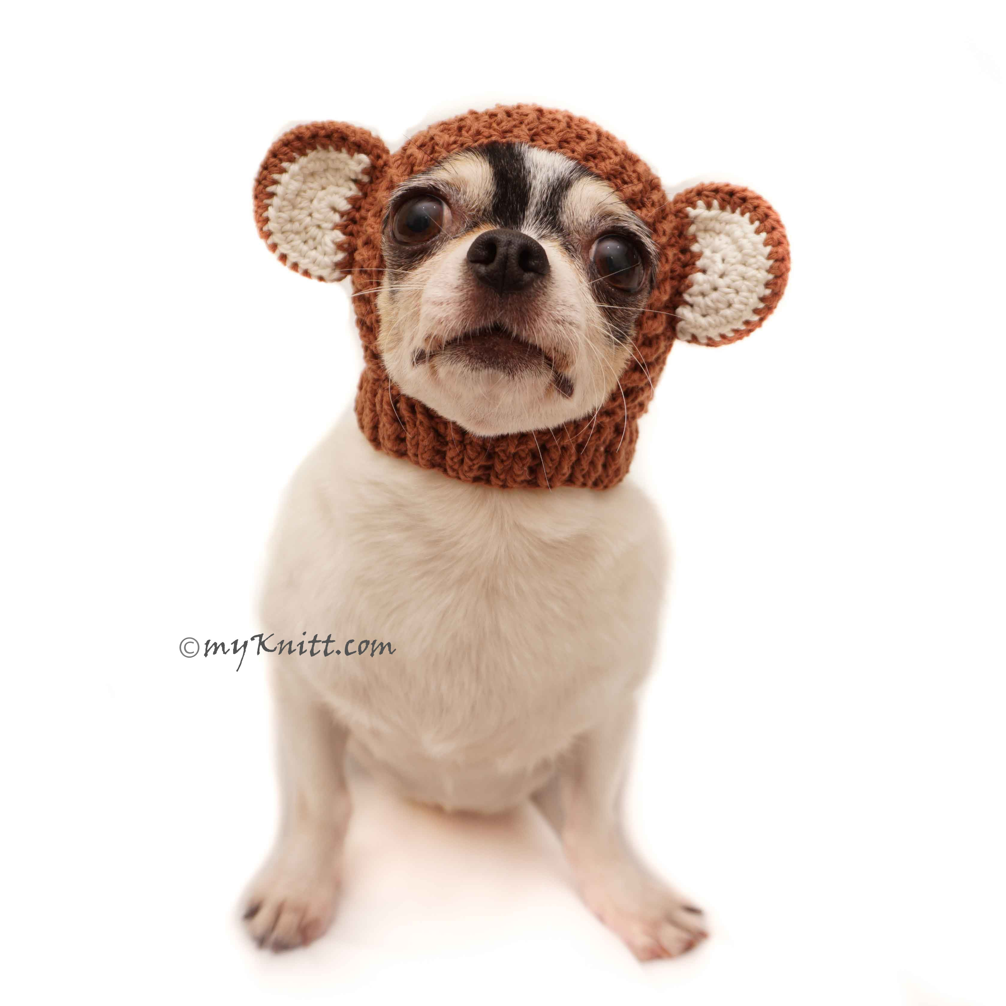 Monkey Dog Hats, Crochet Dog Hat, Cat Hats DB8 by Myknitt