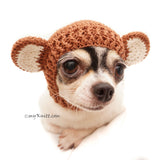 Monkey Dog Hats, Crochet Dog Hat, Cat Hats, Funny Dog Costume by Myknitt