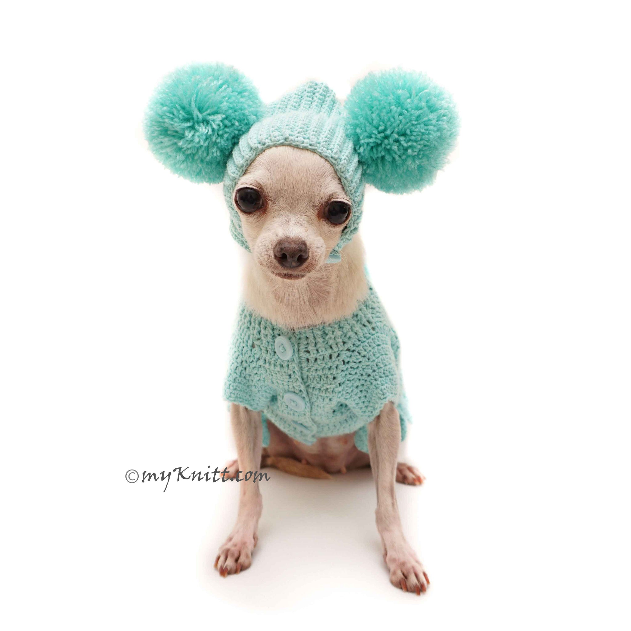 Easter Bunny Costume with Pom Pom Dog Hats, Funny Dog Outfits by ...