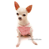 Pink Dog Dress with Lots of Frills Crochet Skirts DF111